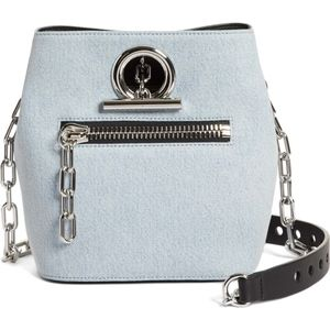 ALEXANDER WANG Riot Denim Crossbody Bag